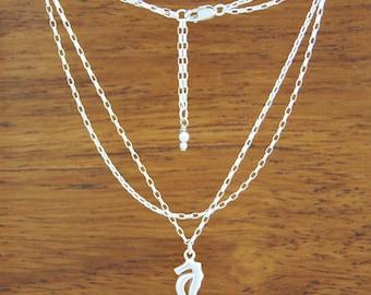 Seahorse Adjustable Anklet - Sterling Silver
