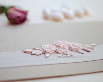 """Seminabile invitation/Participation in paper and raw """"card that sprouts"""" with insert-floral decoration handmade paper"""