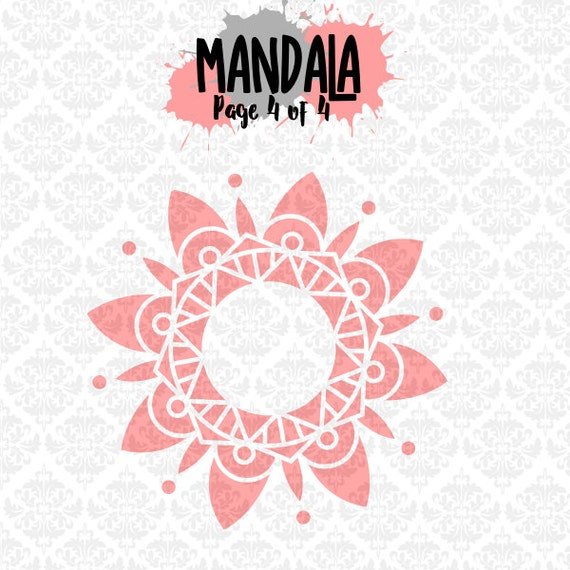 Mandala Filigree Henna Tattoo Monogram Circle SVG DXF Ai EPS Scalable Vector Instant Download Commercial Use Cutting File Cricut Silhouette
