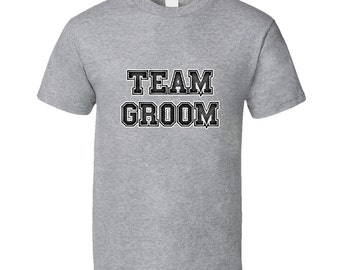 Team Groom - Sport Grey Standard Unisex T Shirt - wedding, party, celebration, best man, engagement