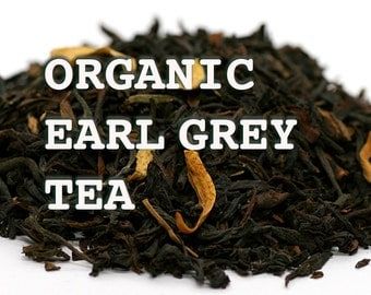 EARL GREY, ORGANIC Tea - Kosher & Organic Loose Leaf Earl Grey Tea - By the Ounce