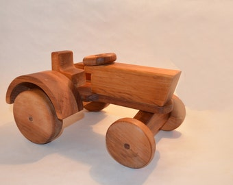 Vintage Wooden Tractor Toy from USSR Model 1934