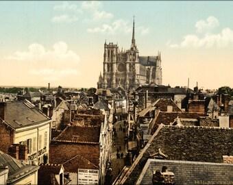 24x36 Poster . Amiens, France, Photochrom 1895