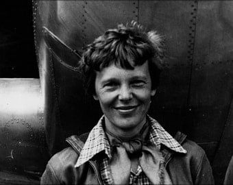 24x36 Poster . Amelia Earhart And Her Model 10-E Electra March 1937