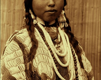 24x36 Poster . Wishham (Tlakluit) Bride Native American Indian 1910