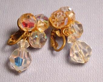 Vintage Sparkly Dangle Earrings