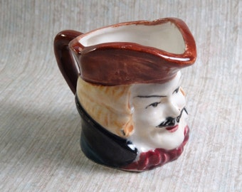 SALE!!!  Vintage Mini Toby Mug - Man with Moustache