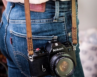 Leather Camera Neck Strap ~ Hitch & Timber