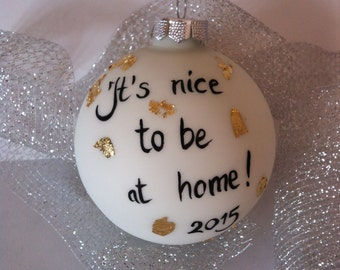 Personalised Christmas ball ornament