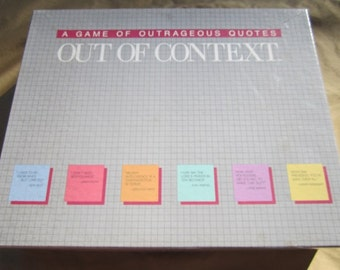 Out of Context: A Game of Outrageous Quotes-1985 by Western Publishing Company-COMPLETE