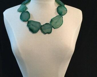 Druzy Green Necklace