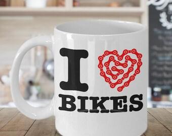 I Love Bikes Mug 11oz Coffee Mug
