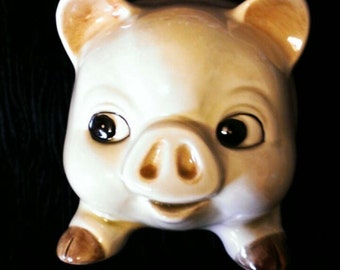 Vintage porcelain cute piggy bank