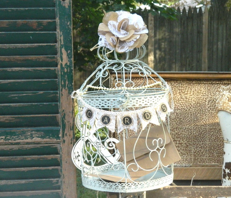 Wedding Gift Card Birdcage : wedding card bird cages Wedding Gift Box Rustic Card Holder