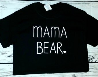 SALE mama bear black short sleeve T-shirt