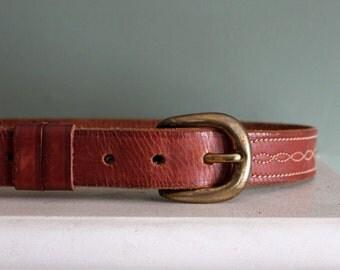 Italian Belt / Felisi Belt / Leather Belt / Brown Belt