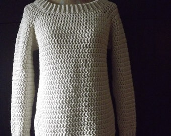 Crochet Sweater, Crochet Pullover, Sweater, Pullover, Classic Pullover, Modern Crochet Sweater, Chunky Sweater