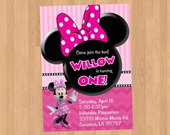 Minnie Mouse Birthday Invitation DIY Printable