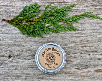 Natural Vapour Rub • Sinus Relief  • Breathe Easy  • Chest Rub • Decongestant • Cold and Flu • All Natural  • Organic Body Care