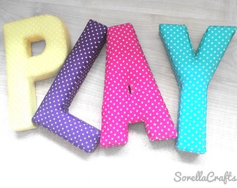 Fabric letter,Childs bedroom,Nursery,home decor made to order in any fabric of your choice