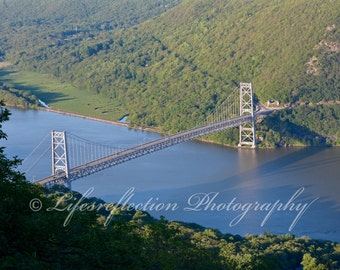 Bear Mountain Bridge Bear Mountain NY, Bridge Photography, Landscape, Fine Art, Wall Decor, Nature Photography