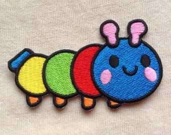 Caterpillar Iron On Embroidery Patch