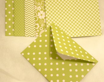 Handmade Envelopes - All Green