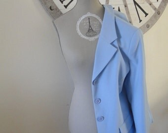 vintage 80s blue jacket