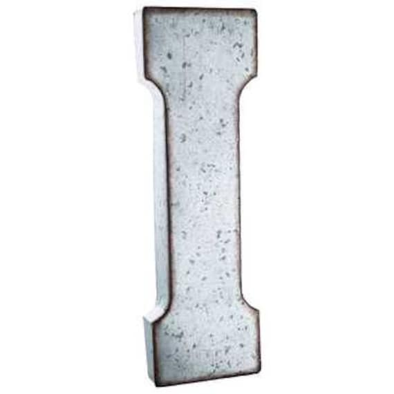 Items similar to galvanized metal letters large 20 inch for Giant galvanized letters