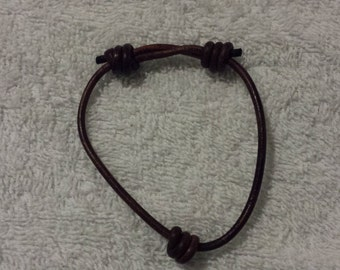 3MM Adjustable Leather Bracelet