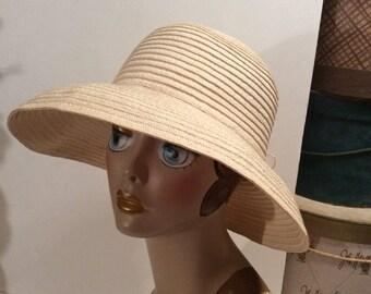 50% Off Sale Vintage Ivory Wide Brim Versatile Straw Hat