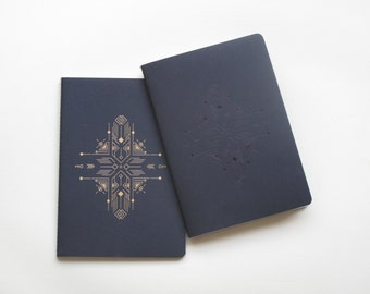 Minimalistic Sketchbook - Black Foil Print - Blank Paper