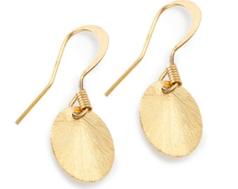 Vermeil and Gold Inlaid Earrings