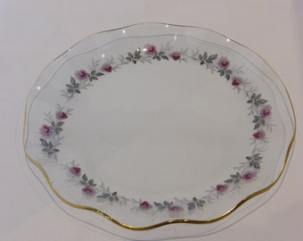 "SALE - Chance glass ""Royal Bride"" sandwich plate - original from the 1960's - was GBP18, now GBP12"