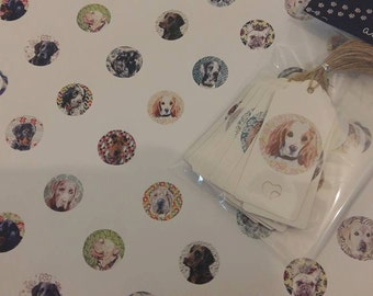 Custom Pet Portrait Gift Tags
