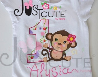 Handmade painted T-shirts  for a special personalized gifts - Happy 1st Birthday!