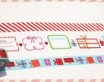 Lovely CHRISTMAS 3 In 1 Masking Tape Set/ Washi Tape/3rolls/5m