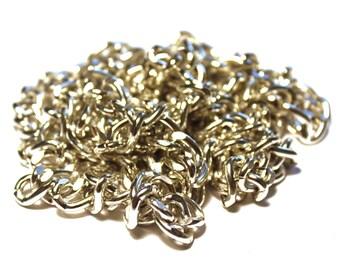 5 ft Silver Aluminum Chain, Aluminum Curb Chain, 14mm x 10mm Curb Chain, 14mm x 10mm Silver Chain, 14mm x 10mm Aluminum Chain, Bulk Chain