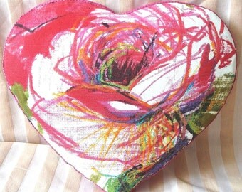 "Decorative pillow ""Heart of roses"""