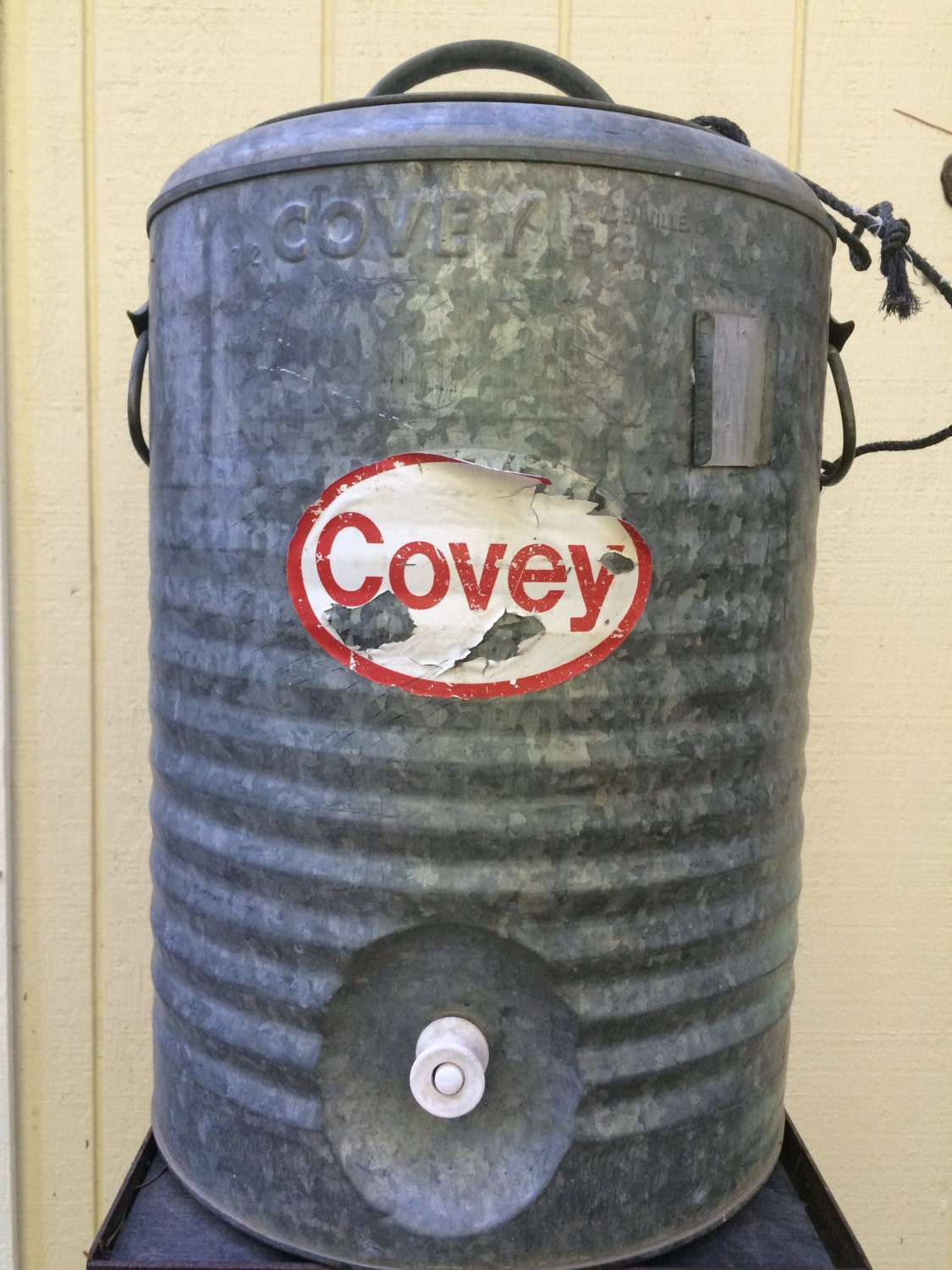 Vintage Covey Galvanized 5 Gallon Stainless Steel Lined Water