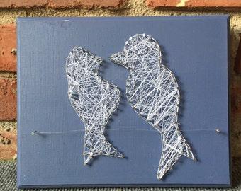 String Art- Birds on a Wire