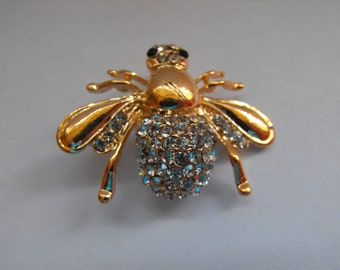 gorgeous large sparkling Bee Brooch