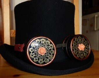 Steampunk Victorian glasses Goggles (hat not included)