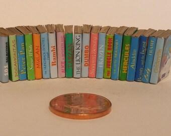 Large Job Lot of Full 20 Titles 1/12th Walt Disney books for Dolls Houses