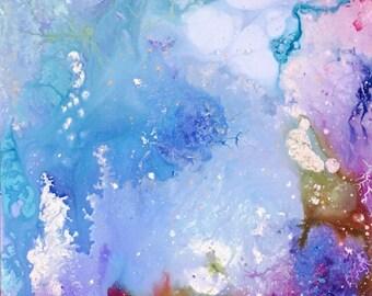 Deep Ocean Acrylic Painting 36x24x2