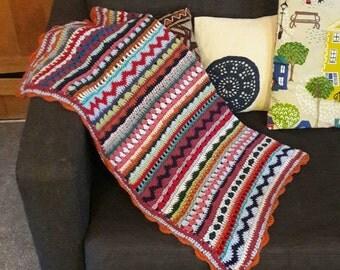 Colourful, varied, crochet blankets