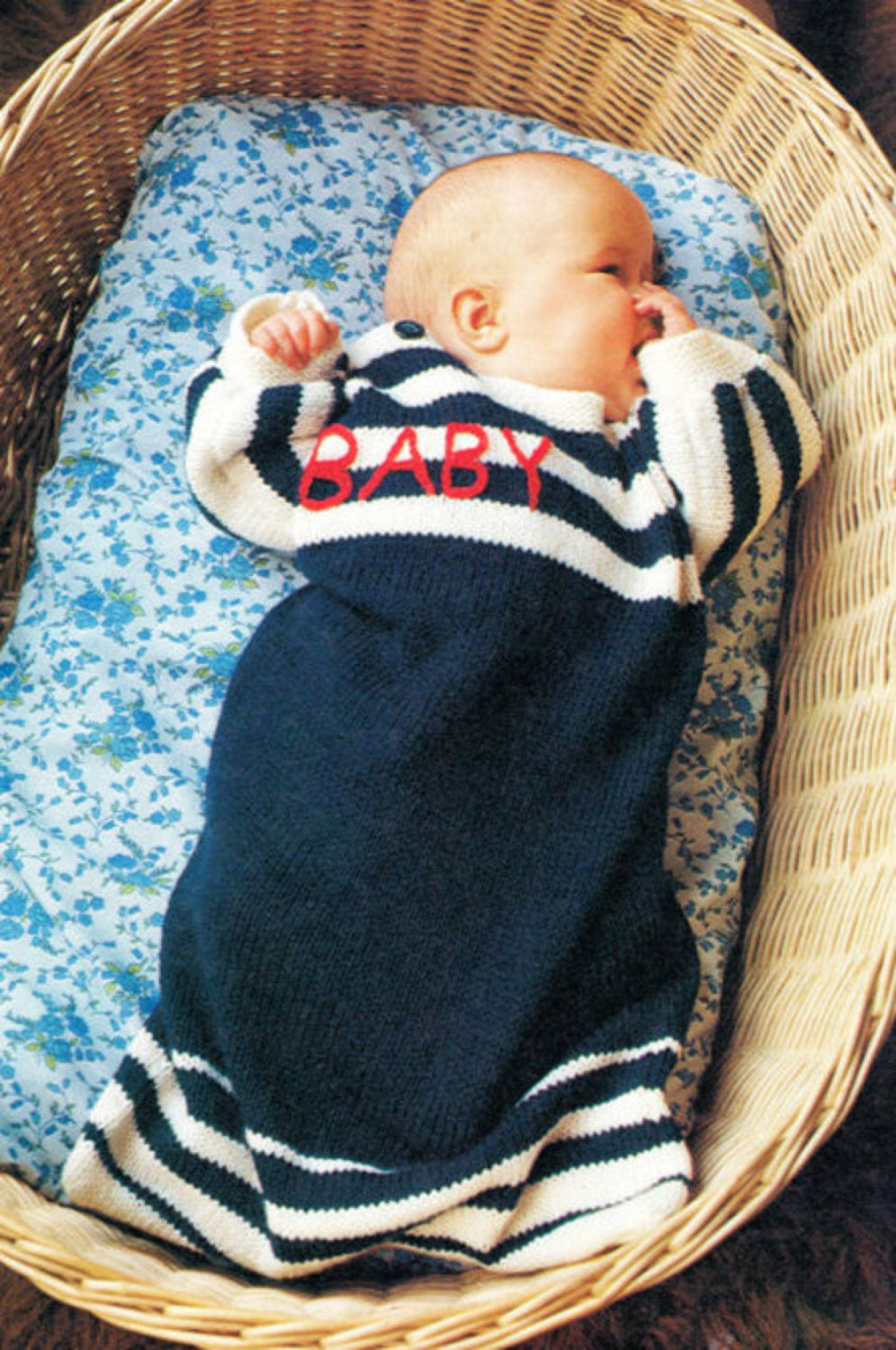 baby sleeping bag dk knitting pattern 99p pdf