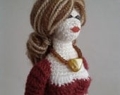 Doll strong Lady Figurine with wire frame Amigurumi Crochet Fashion doll Amigurumi Crochet doll lady handmade doll doll toy