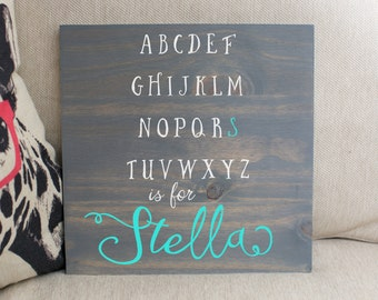 Personalized baby etsy personalized baby gift alphabet sign baby gift nursery decor personalized name sign negle Images