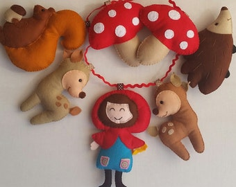 Little Red Ridding Hood garland, kids bedroom decorations , wall decorations!